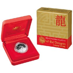 2012 $1 Lunar Year of the Dragon Silver Proof Coin