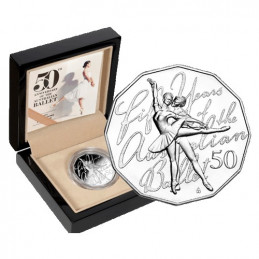 2012 50c 50th Anniversary of the Australian Ballet Fine Silver Proof Coin