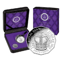 2012 50c Diamond Jubilee of the accession of Her Majesty QEII Fine Silver Proof Coin