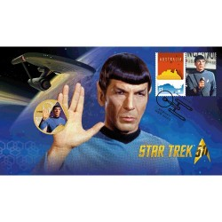 2016 $1 Star Trek Spock Coin & Stamp Cover PNC