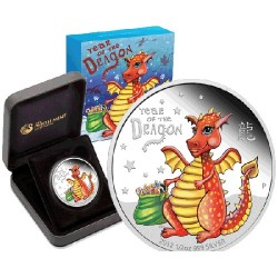 2012 50c Baby Dragon 1/2oz Coloured Silver Proof Coin