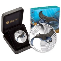 2012 50c Australian Sea Life Series II - Manta Ray 1/2oz Silver Proof Coin