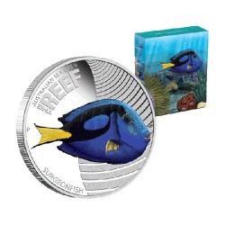 2012 50c Australian Sea Life Series II - Surgeonfish 1/2oz Silver Proof Coin