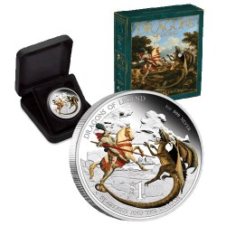 2012 $1 Dragons of Legend - St George & the Dragon 1oz Silver Proof Coin