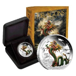 2012 $1 Dragons of Legend - Chinese Dragon 1oz Silver Proof Coin