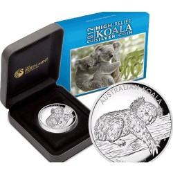2012 $1 Koala High Relief 1oz Silver Proof Coin