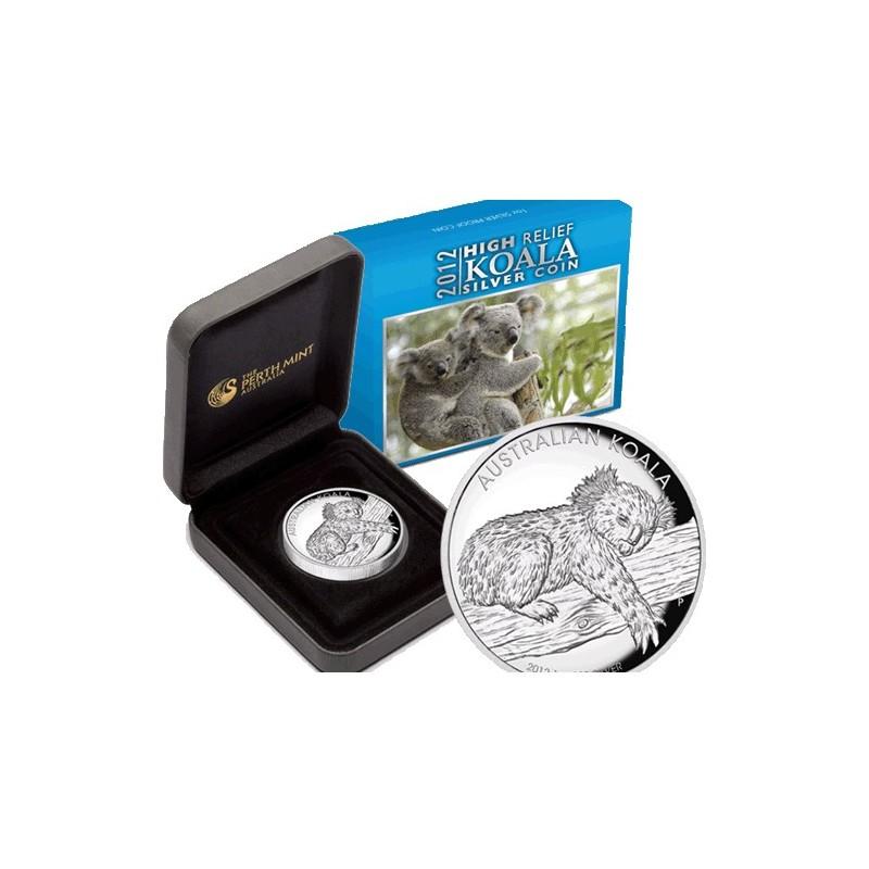 2012 1 Koala High Relief 1oz Silver Proof Coin Coin City