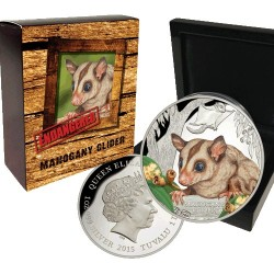 2015 $1 Endangered & Extinct Series - Mahogany Glider 1oz Silver Proof Coin