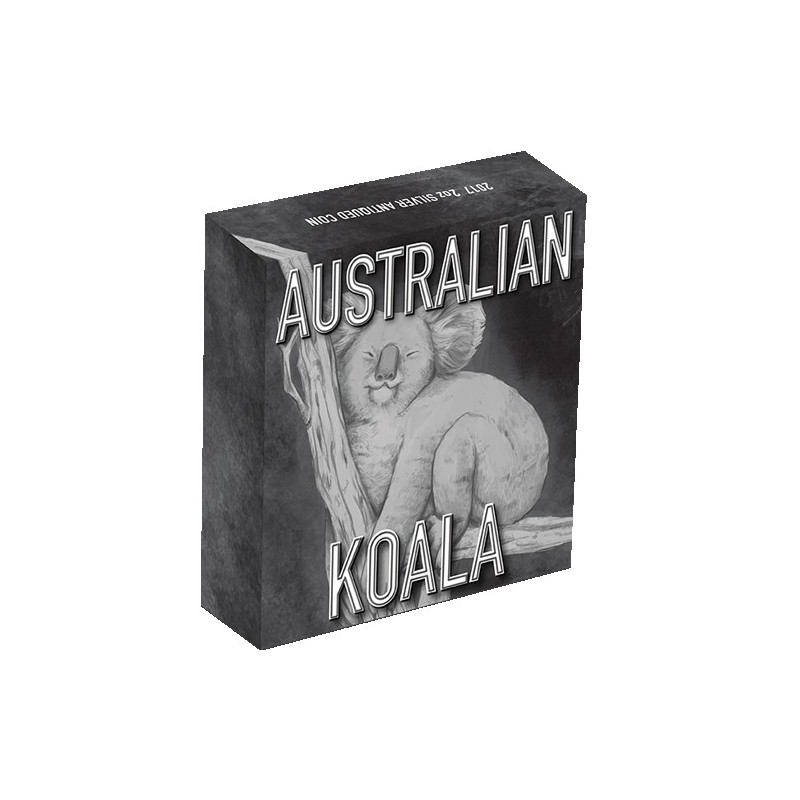 2017 $2 Australian Koala  2oz Silver High Relief Antiqued Coin