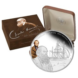 2009 $1 200th Anniversary of the Birth of Charles Dawrin 1oz Silver Proof Coin