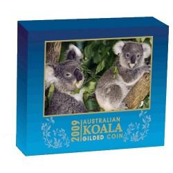 2009 $1 Australian Koala Gilded 1oz Silver Coin