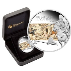 2009 $1 Famous Battles in History - Hastings 1oz  Silver Proof Coin