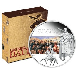 2009 $1 Famous Battles in History - Balaklava 1oz  Silver Proof Coin