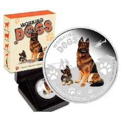 2011 $1 Working Dogs Series - German Shepherd 1oz Silver Proof Coin