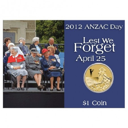 2012 $1 ANZAC Day Defence Force Nurses Unc Coin in Card