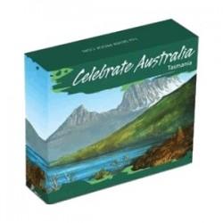 2010 $1 Celebrate Australia Tasmania 1oz Silver Proof Coin