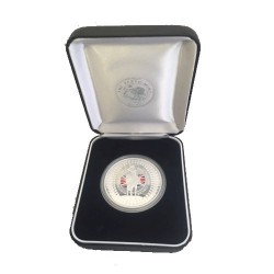 2002 $1 QEII Accession Golden Jubilee 1952 - 2002 1oz Coloured Silver Proof Coin