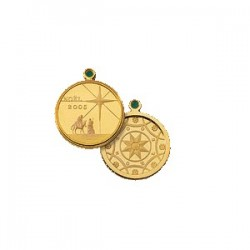 2005 Christmas Gold Plated Medallion