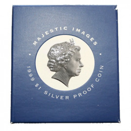 1999 $1 Majestic Images Silver Proof Coin
