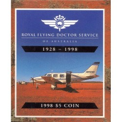 1998 $5 Royal Flying Doctor Service RFDS Silver Proof Coin