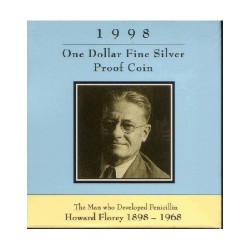 1998 $1 Howard Florey 1898 - 1968 Silver Proof Coin