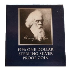 1996 $1 Sir Henry Parkes Centenary Silver Proof Coin