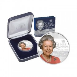 2006 $1 HM Queen Elizabeth II 80th Birthday  Silver Proof Coin
