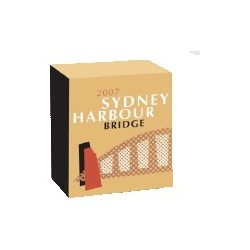 2007 $1 Sydney Harbour Bridge 75th Anniversary Coloured 1oz Silver Proof Coin