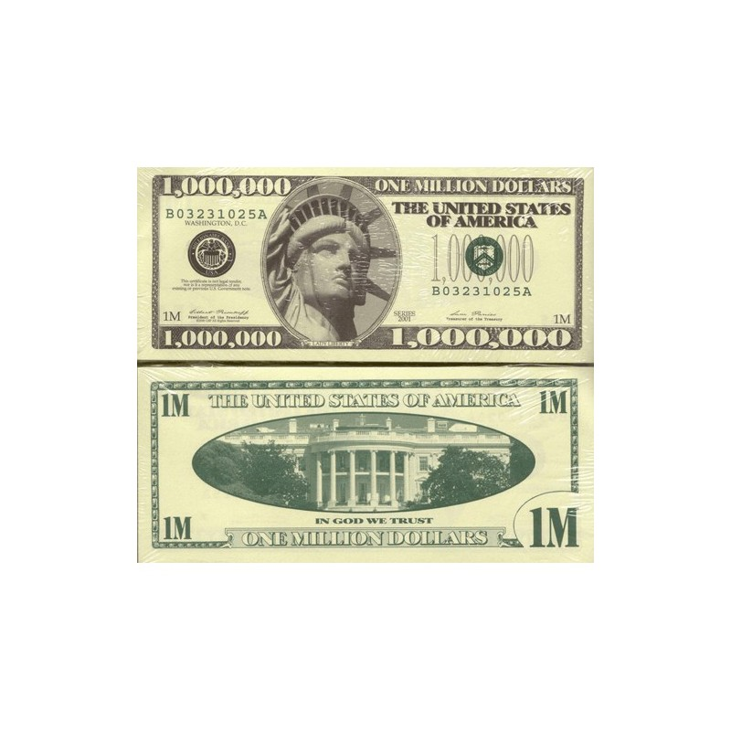 USA Million Dollar Novelty Note Bundle of 100