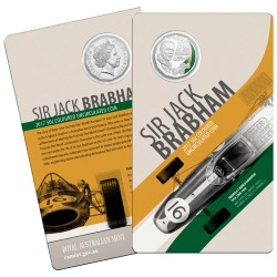 2017 50c Sir Jack Brabham Unc Coin in Card