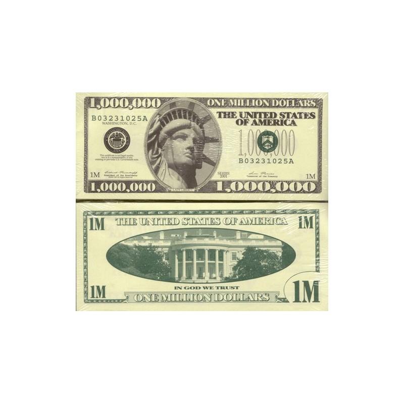 **One Million Dollars** Novelty Note