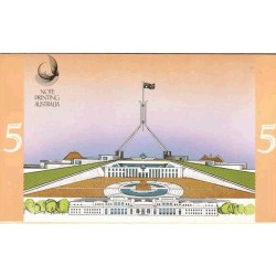 1992 $5 Last / First Souvenir Folder Uncirculated Australian Banknotes