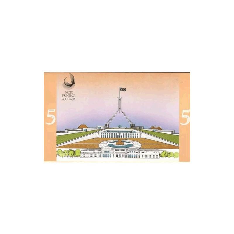 1992 $5 Last / First Souvenir Folder Uncirculated Australian Banknotes