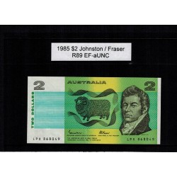 1985 $2 R89 Johnston / Fraser General Prefix EF-aUNC Paper Australian Banknote