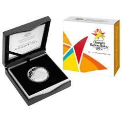 2017 $5 Queens Baton Relay Fine Silver Proof Coin