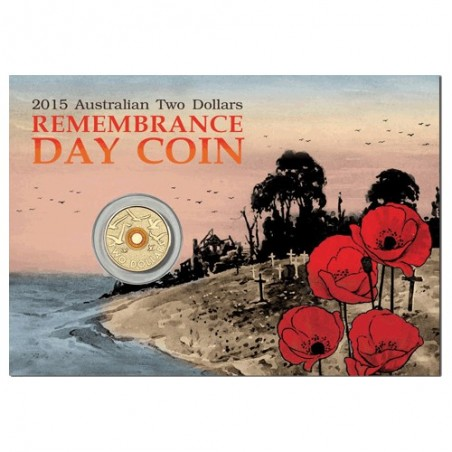 2015 $2 Remembrance Day Flanders Fields Uncirculated Coin in Pack