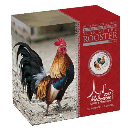 2017 25c Year of the Rooster Melbourne Stamp & Coin Show 1/4oz Silver Proof Coin