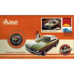 2016 50c 1972 LJ Holden Torana GTR XU-1 Coin & Stamp Cover PNC