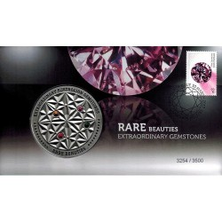 2017 Rare Beauties Extraordinary Gemstones Limited Edition Medallion & Stamp Cover PNC
