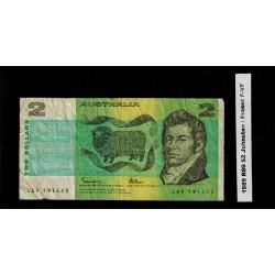 1985 $2 R89 Johnston / Fraser General Prefix F-VF Paper Australian Banknote