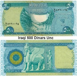 Iraqi (Iraq) 500 Dinar Uncirculated Banknote