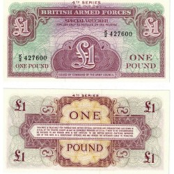 British Armed Forces 1 Pound 4th Series Uncirculated Banknote