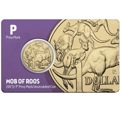 2017 $1 Perth ANDA Show Mob of Roos P Privy Mark Unc Coin in Card with Folder