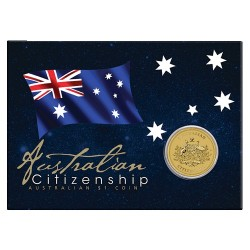 2016 $1 Australian Citizenship Uncirculated Coin in Card