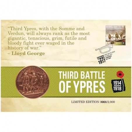 2017 Centenary of WWI : 1917 Third Battle of Ypres Limited Edition Medallion Cover