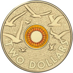 2015 $2 Remembrance Day Orange Coloured Uncirculated Coin