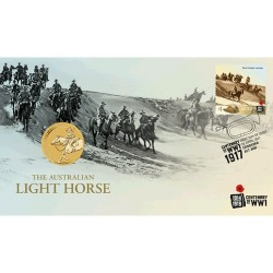 2017 $1 The Australian Light Horse Coin & Stamp Cover PNC