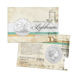 2015 $1 Australian Lighthouses - Aids to Navigation 1oz Fine Silver Coin in Card