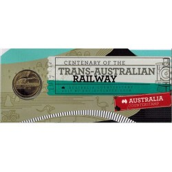 2017 $1 Centenary of the Trans-Australian Railway Australia Counterstamp