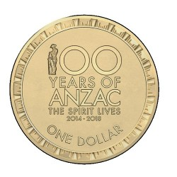 2017 $1 100 Years of ANZAC The Spirit Lives 2014 - 2018 Uncirculated Coin
